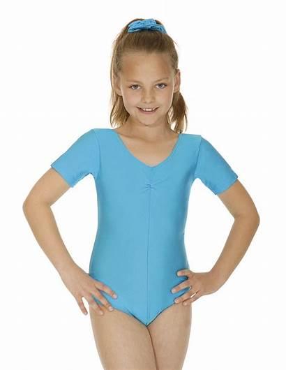 Leotard Lycra Short Nylon Jeanette Sleeved Dance