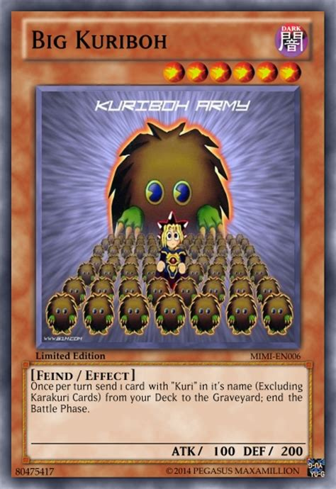 yu gi oh kuriboh deck 2015 big kuriboh by darkmage666 on deviantart