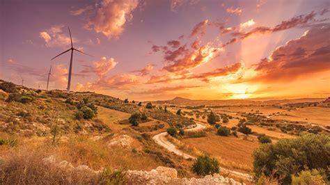 cyprus landscape  sunset  ultra hd wallpaper