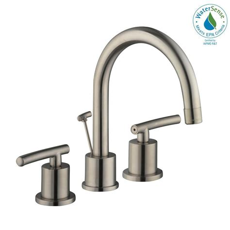 kitchen sink faucet reviews glacier bay dorset 8 in widespread 2 handle high arc