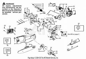 Poulan Pp235 Gas Saw  235 Gas Saw Parts Diagram For Engine Assembly