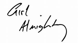 Girl Almighty Vinyl Sticker - Louis Tomlinson Handwriting ...
