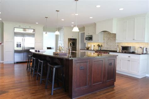 Kitchen Island With Dishwasher And Sink - awesome large kitchen islands with seating my home design journey