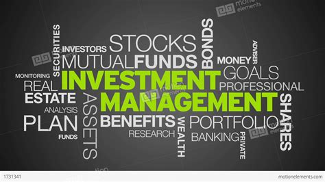 Investment Management Word Cloud Animation Stock Animation