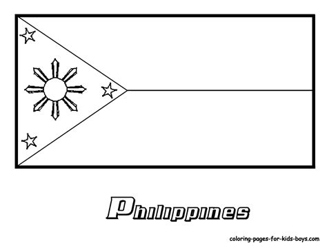 philippines flag coloring page  coloring pages