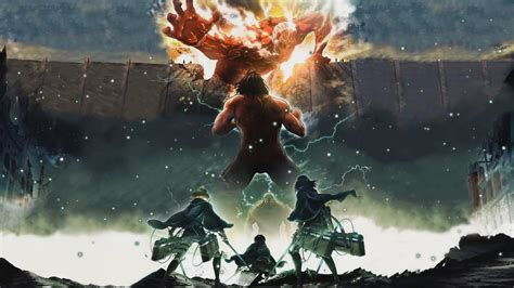 attack  titan anime animated wallpaper desktophut