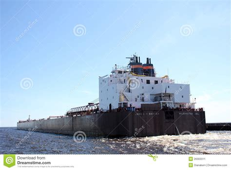 Boat Transport Mn by Barge In The Canal Duluth Mn Editorial Photo Image