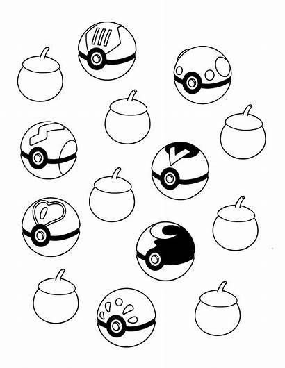Pokeball Pokemon Coloring Ball Pages Colouring Balls