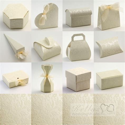 diy wedding favour boxes uk diamante ivory wedding favour gift boxes craft diy ebay