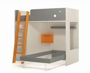 Lit Superposé Ado : lit superpos avec lit haut et lit compact meubles ros ~ Farleysfitness.com Idées de Décoration