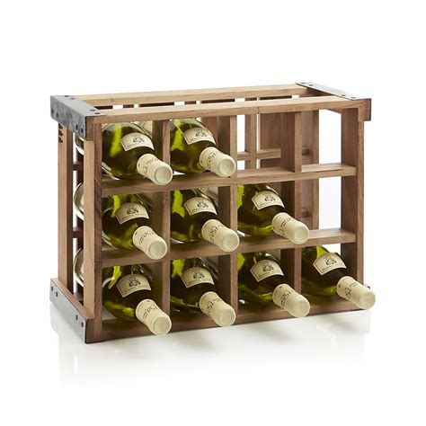 wooden wine rack rustic acacia wood crate wine racks the green
