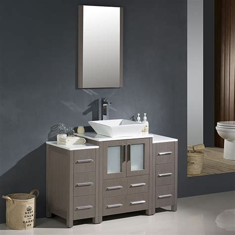 Vessel sink vanities at affordable prices with the large collection unique types of vessel sink bathroom vanities vessel 37 inch adelina vessel sink bathroom vanity black galaxy top out of stock. Fresca Torino (single) 48-inch Modern Bathroom Vanity ...