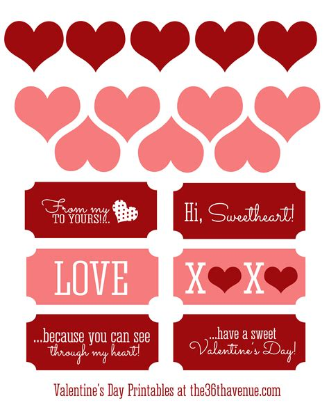 'I Love You Because Printable Valentine