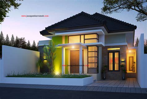 contoh desain rumah minimalis modern atap miring yg