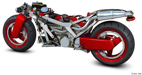 Ferrari V4 Motorcycle Concept News Top Speed
