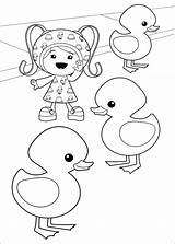 Umizoomi Coloring Pages Little sketch template