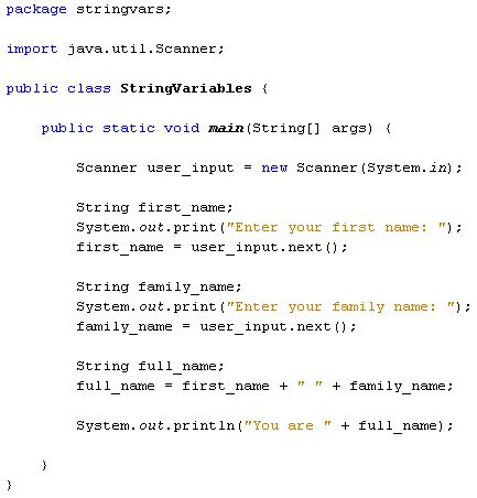 java for complete beginners user input