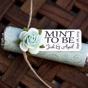 bridal shower wedding favor quotmint to bequot favors with With wedding favors mint to be