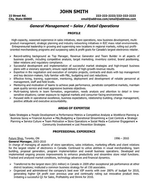 General Manager Resume Sles by Pin By Bascio On Office Professional Resume