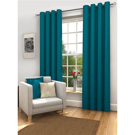Teal Blackout Curtains Eyelet by B M Gt Mali Thermal Blackout Eyelet Curtain 66x72 264465