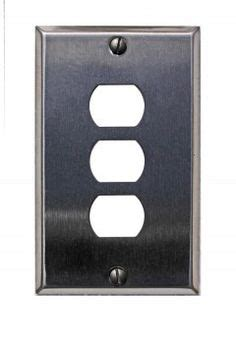 steel 3 despard wall switch plates on solid brass switch plates