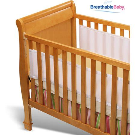bumpers for cribs breathablebaby bumper for solid end cribs walmart
