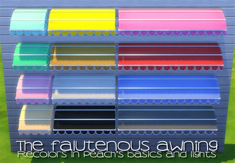 sims  blog  falutenous awning resized  recolors  peachandherpan
