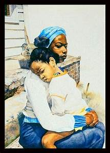 Black Art African American Mother and Child | African art ...