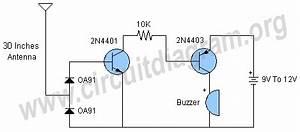 rf detector circuit diagram With rf detector circuit schematic