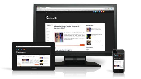 responsive template 7 best images of responsive templates service best responsive