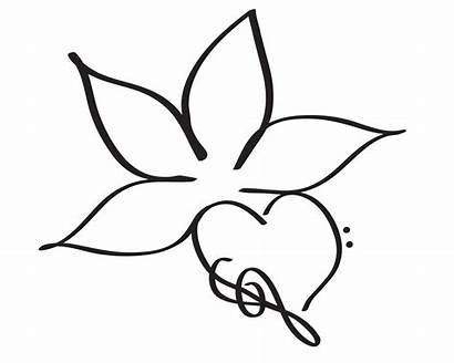 Flower Simple Drawings Designs Tattoo Computer Cliparts
