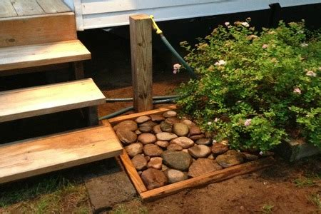 create  outdoor foot washing station