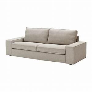 Fabric three seater sofas ikea for Ikea kivik sofa