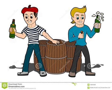 Cartoon Men Celebrating Royalty Free Stock Images