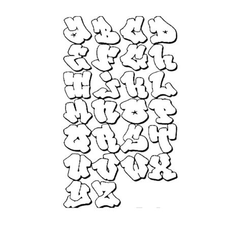 Hip Hop Graffiti Kleurplaat by Graffiti Alphabet Lettering Hip Hop Coloring Book