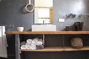 Salle De Bain Plan De Travail : regardsetmaisons ma nouvelle salle de bain de b ton et de ~ Melissatoandfro.com Idées de Décoration