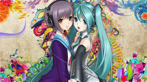 Vocaloid Anime Wallpaper - iu and hatsune miku in vocaloid wallpaper anime
