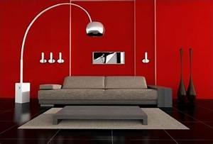 revgercom peinture pour salon rouge idee inspirante With lovely couleur pour mur salon 1 on met laccent sur la couleur de peinture pour salon
