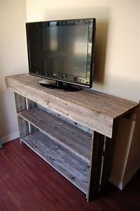 Table Tv But : reclaimed wood tv stand woodworking projects plans ~ Teatrodelosmanantiales.com Idées de Décoration