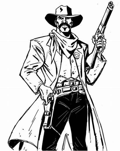 Bass West Reeves Lawmen Llc Drawings Cowboys