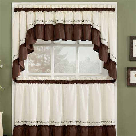 Modern Kitchen Curtains And Valances  Window Treatments