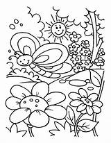 Coloring Garden Pages Spring Gardening Drawing Rose Kid Printable Flower Preschool Getdrawings Getcolorings Cry Smile Later Easily sketch template