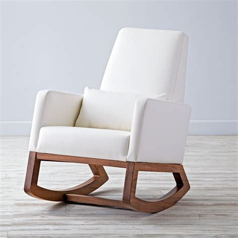 furniture white wooden rocking chair with jungle animal