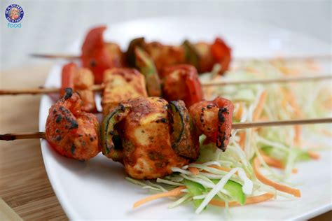 cooking with cottage cheese recipes paneer shashlik grilled spicy cottage cheese recipe