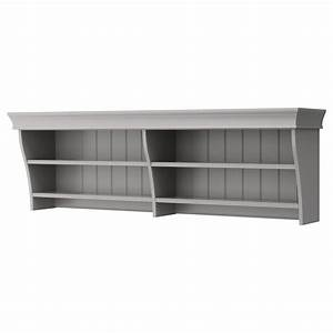 LIATORP Wall/bridging shelf Grey 152x47 cm - IKEA