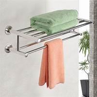 bathroom towel holder Wall Mounted Towel Rack Bathroom Hotel Rail Holder Storage ...