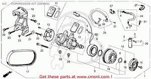 Honda Accord 1987 4dr Dx  Ka  A  C Compressor Kit  Denso