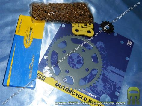 kit deco tzr 50 kit chain sarkany 420 12 or 13x46 mbk x power and yamaha