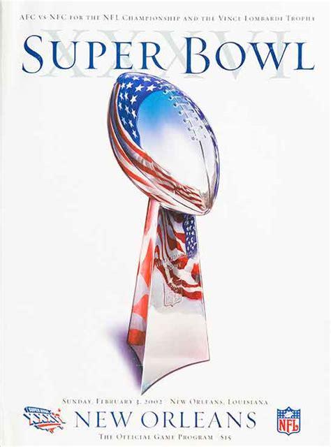 years  super bowl game programs