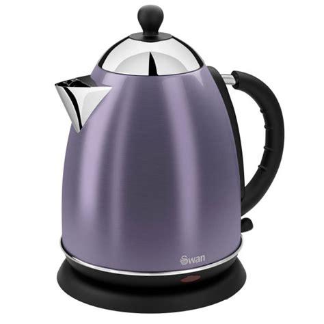 kettle purple swan jug metallic litre